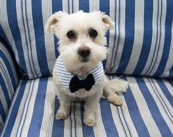 Nautical Dog Shirt Collar Bow Tie