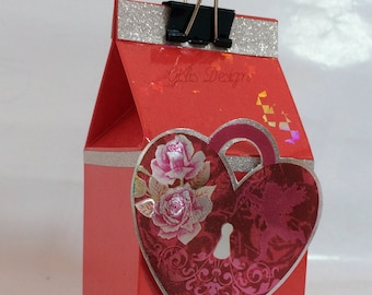 Valentine's Day-packaging, gift bag, milk carton