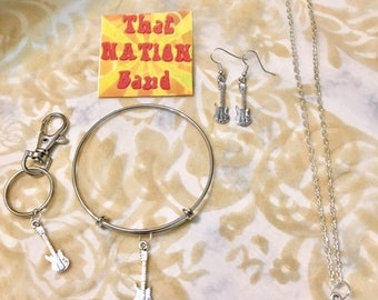 That NATION Band Guitar Jewelry- Sold separately