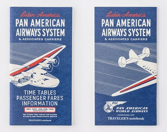 Pan Am x Traveler's Notebook Grid notebook Refill Regular size 14356006 Midori Limited Blue Edition TRAVELER'S COMPANY Rare Made in Japan