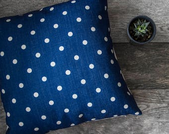 Blue Pillow Cover, Blue Throw Pillow, Decorative Pillow Cover, Cushion Cover