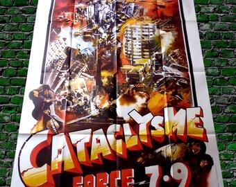 1980 original cinema poster CATACLYSM force 7.9