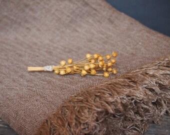 Linen Blanket, Brown Blanket, Linen Bedding, Linen Gift