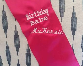 Birthday Babe Sash