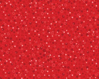 """Bubbles Fabric, Circles Fabric: Autumn Palette by Patrick Lose Red Bubbly 100% cotton fabric by the yard 36""""x43"""" (N310)"""