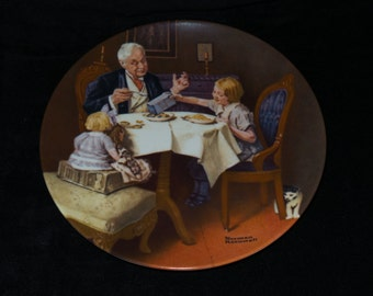 """1984 Knowles Rockwell Heritage """"The Gourmet"""" Collector Plate by Norman Rockwell"""