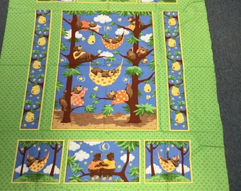 Barron Bear Quilt panel by Suzybee