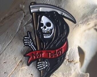 grim reaper enamel pin