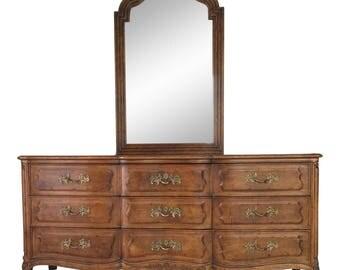 Vintage Henredon French Provincial Dresser & Mirror