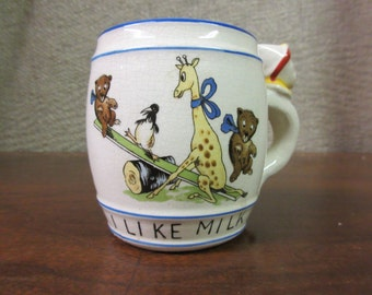 I Like Milk! - Mid century mug