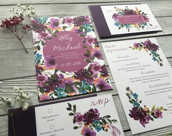 Florence Wedding Invitation Set - Sample Only