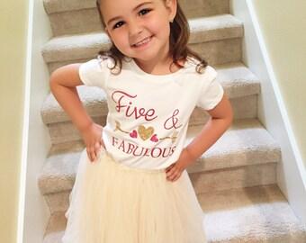 Five & Fabulous, Girl's Shirt