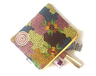 Aboriginal Bush Fruit Dreaming print coin purse