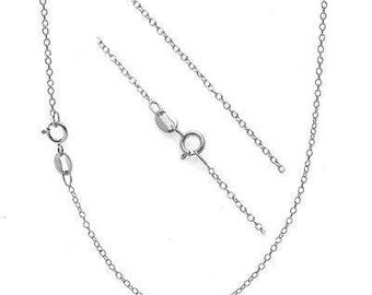 A sterling Silver Cable Necklace.