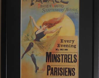 "Framed Collectable Theatre Promotion - Minstrels Parisiens - 16"" x 12"""