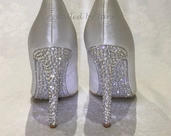 Custom Swarovski Crystal Strassing Service - Shoes Stilettoes Pumps Heels - Prom Bridal Party Wedding - Bespoke