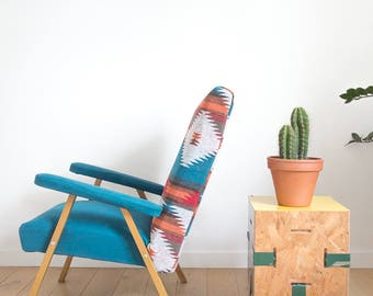 Aztec print fabric Chair