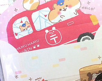 Crux Hamu Hamu kawaii mini letter set