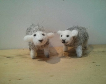 Felted Herdwick sheep - handmade, British wool, native, lake District , countryside, rural, lambs, springtime, gift , animals, easter