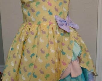 Girls Multi Color Easter Dress