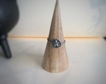 Silver Sand Dollar Ring - Stacking Ring - Sterling Silver Sand Dollar Ring - Beach Wedding