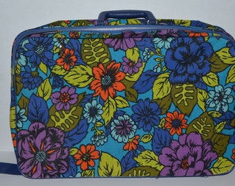 1960s/1970s Flower Suitcase | Vintage Luggage | Retro Bag