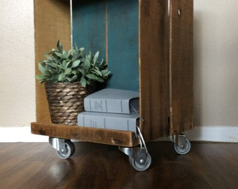 Upcycled Fruit Box Accent Table