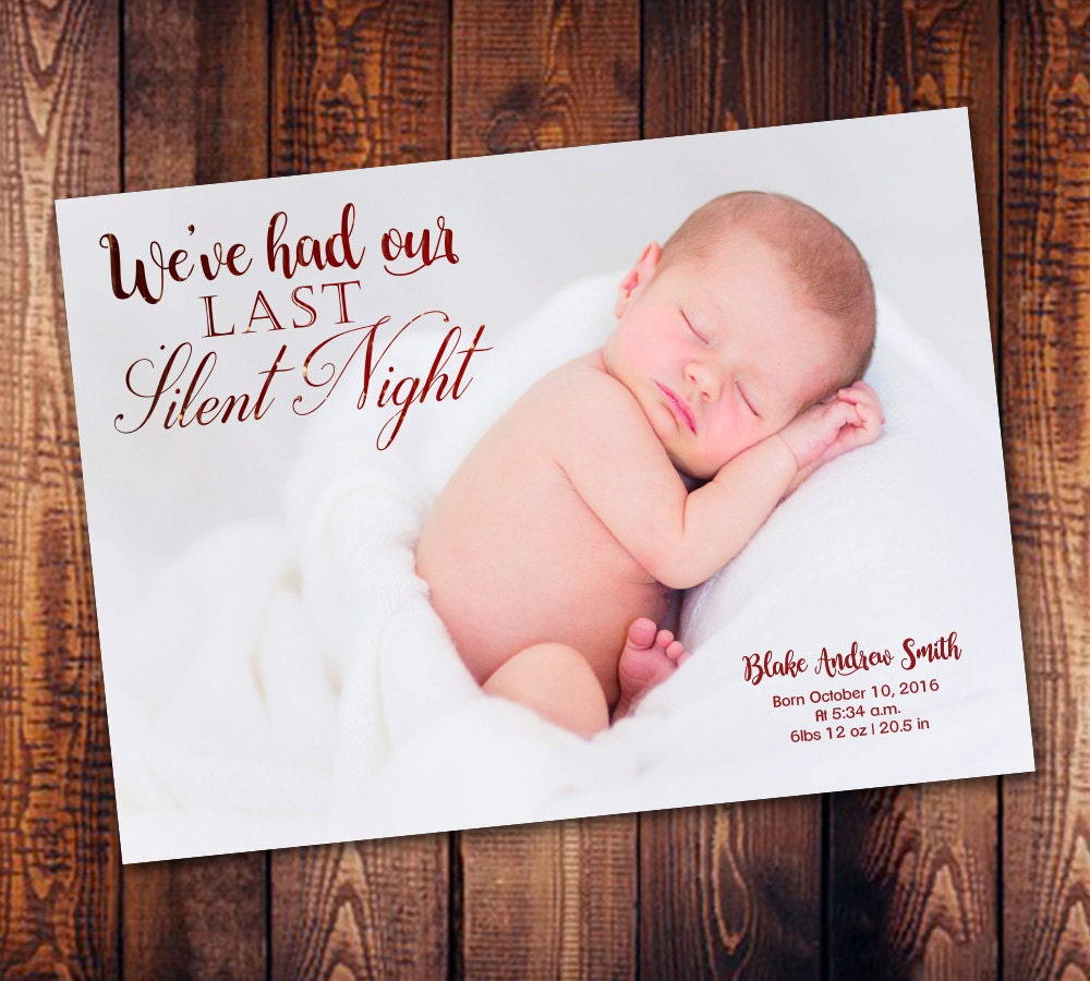 christmas birth announcement christmas baby announcement holiday birth printed cards photo christmas