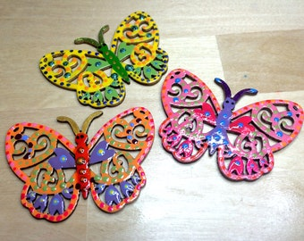 Spotty Dotty Butterflies - Magnets/Badges