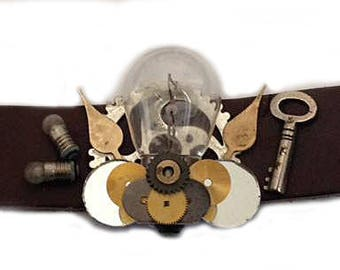 steampunk bracelet bulb for real men / Armband