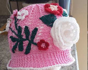 Panama crochet adult hat