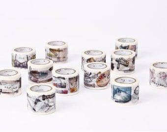 Vintage-look Lifestyle Washi Tape