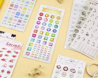 Planner  Stickers - Dates/Weeks, Journal, Travel Notes, Diary