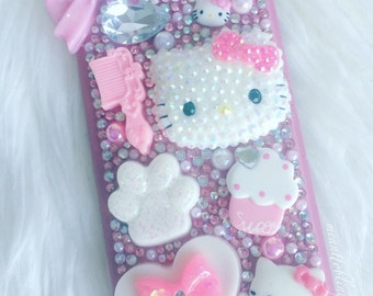 Ready To Ship Galaxy S7 Edge Rhinestone Bling Decoden Phone Case, Wallet Case
