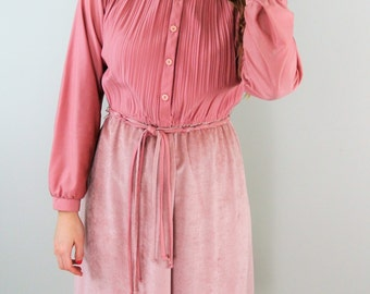 SALE ... 60s Mauve Shirt Dress