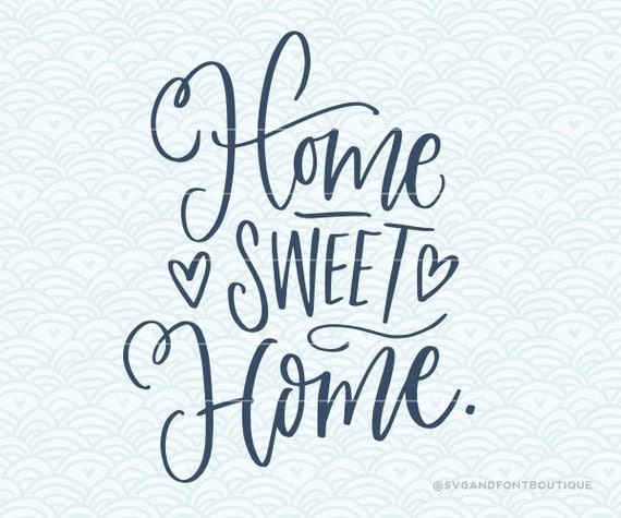 Svg cuttable vector home sweet file