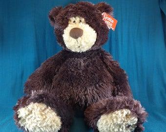 Gund Dark Brown Vintage Plush Bear