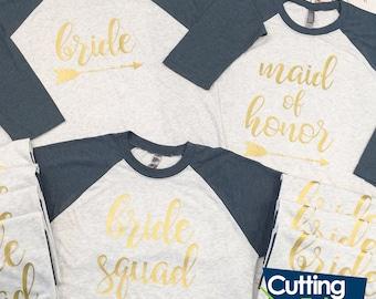 ON SALE Bridesmaid Shirt Bundle, Bridal Party Shirts, Bride Shirts, Wedding Shirts, Bachelorette Shirts, Bridesmaid Gifts, Bridesmaid Jersey