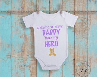 Girls Welcome Home Onesie (Purple)