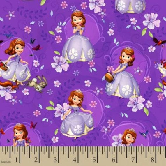 Disney sofia tv movie cartoon comic liscensed novelty for Novelty children s fabric