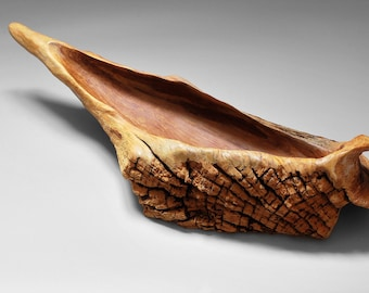 Bowl from ERODED OAK ROOT