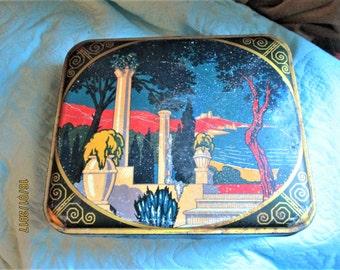 Vintage French Tin, tin boxes, french boxes, art nouveau boxes, metal boxes, early 1900s, treasure boxes, trinket boxes, jewelry boxes