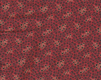 Henry Glass Fabrics, Little Quilts, Reproduction Print on Red, 1 yard