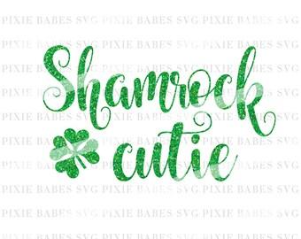 Shamrock Cutie SVG, Clover SVG, Shamrock svg, Lucky svg, St. Patrick's Day svg, svg cuttables, svg, Cricut, Silhouette, svg Cutting Files