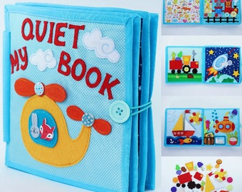 Busy Book | Quiet Book | Felt Busy Book | Toddler book | Activity Book | Fabric quiet book |  Gift for Kids