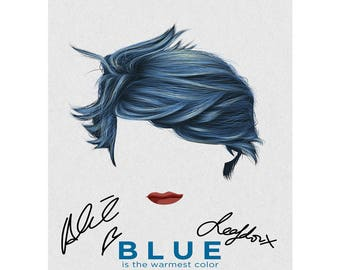 Blue Is the Warmest Colour cover art pre signed photo print poster - 12x8 inches (30cm x 20cm) - Superb quality