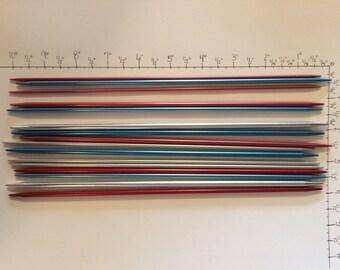 Vintage Aluminum Knitting Needles (16-various sizes/colors)