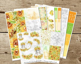 Sunflower Weekly Kit (for use in Erin Condren)
