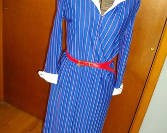 1970's Pin Stripe Dress