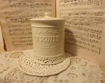 Superb way ceramic cookie jar lace down with support lace